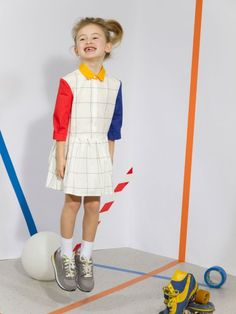 Quenotte A/W children collection. Fashion Kids, Fashion Outfits, Mondrian Dress, Moda Kids, Kids Outfits, Cute Outfits, Kid Styles, Kids Wear, American Apparel