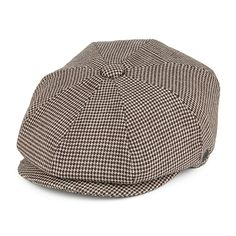 Jaxon & James Genoa Pure Wool Newsboy Cap - Brown-Cream