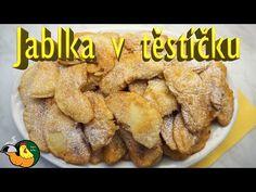 Jablka v těstíčku - YouTube Chicken, Meat, Facebook, Fruit, Youtube, Food, Eten, Meals, Cubs