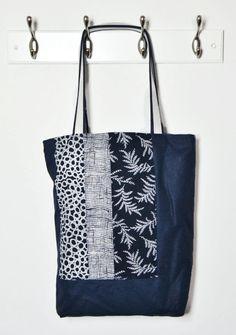 Bolsa corta la punta Japón cabas batik azul Indigo