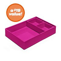 Pink Double Tray
