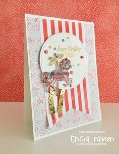 The Speckled Sparrow: CTC116 - Carousel Birthday Card