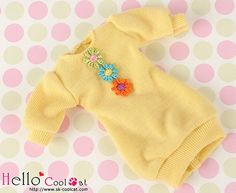 Blythe Pullip Puffed Sleeves Clothes /3 flowers by HelloCoolCat