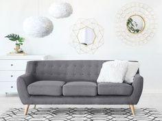 3-Sitzer Sofa Polsterbezug hellgrau MOTALA Grey Velvet Sofa, Gray Sofa, Chesterfield Sofa, Sofa Colors, Three Seater Sofa, Upholstered Sofa, Corner Sofa, Fabric Sofa, Modern Retro