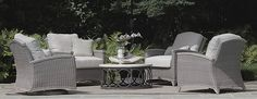 Transform your outdoor space into a stylish oasis with the array of patio furniture sets at Frontgate. Shop our outdoor furniture collections now. Patio Furniture Sets, Wicker Furniture, Outdoor Cushions, Cushions On Sofa, Outdoor Rooms, Outdoor Decor, Modern Pools, Extruded Aluminum, Luxury Home Decor