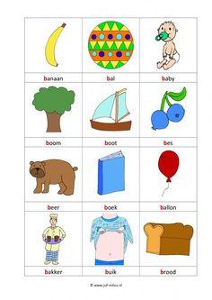 School Posters, Letter B, Primary School, Kids Education, Worksheets, Logos, Spelling, Dutch, Image