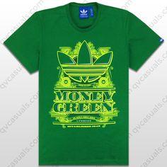 adidas Originals G Money Green Trefoil T-Shirt G91987 at QV casuals. Save on a huge range of big brand tees.