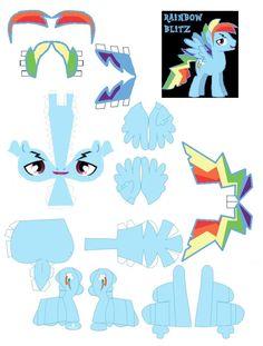 rainbow blitz by DryRouteToDevon on deviantART 3d Paper, Paper Toys, Paper Crafts, Silhouette Portrait Projects, My Little Pony Craft, Little Poni, Equestrian Girls, Paper Animals, Paper Models