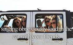 Or family. Long road trips with our family tend to involve some singing and goofiness lol @Madeline Sears