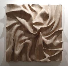 L'artiste coréen Cha Jong-Rye réalise ces tableaux en bois et en relief en érodant des planches.