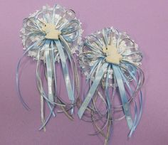 2 Piece Mom to be / Dad To Be Corsage, Baby Shower, Blue / Gray, Elephant  #KlassikEventsHandcrafted #BabyShower