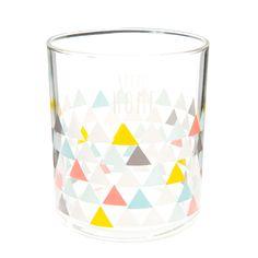Bicchiere in vetro con triangoli NORDIC HOME   - Venduto x 6