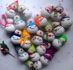 1000 схем амигуруми на русском: Снеговики амигуруми
