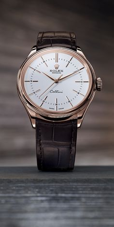 Sometimes an understated choice makes the biggest statement. The Rolex Cellini Time in 18 ct Everose gold.