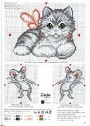 Schema punto croce Gattino E Topini