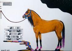 """439 kedvelés, 7 hozzászólás – Horváth Kincső Art (@horvathkincso_art) Instagram-hozzászólása: """"Ma egy éve készült el. 💛🧡🖤 Színáthelyezés (2019) #társasház #horse #horselove #acrylicpainting…"""" Tarot, Horses, Animals, Instagram, Animales, Animaux, Animal, Animais, Horse"""