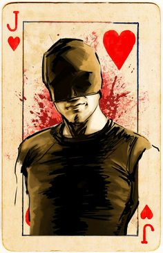 """This show stuck in my head, man. As did the song """"Lily, Rosemary, and the Jack of Hearts"""" for the entirety of the time I was working on this set.The card textures were from Zeldona at Mellowmint. Disney Marvel, Marvel Dc, Netflix Marvel, Daredevil Matt Murdock, Daredevil Punisher, Leonard Cohen, Bucky, Michael Cimino, Visions Of Johanna"""