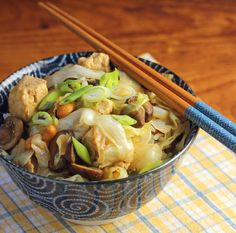 Recipe for tofu stir-fry with cabbage and cashews {The Perfect Pantry}
