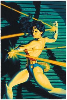 "extraordinarycomics: "" Wonder Woman by Steve Rude. "" Love his Wonder Woman art. Wonder Woman Kunst, Wonder Woman Art, Wonder Women, Lynda Carter, Superman, Brian Michael Bendis, Hq Dc, Female Superhero, Dc Comics Art"