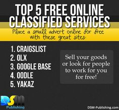 Top 5 Free Online Classified Services. #internetmarketing