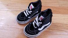 9874d371ee VANS SK8-Hi Top Zipper Toddler Unisex Skate Sneaker Shoes Black White Size 4