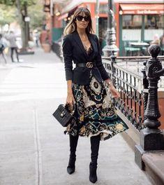 Mode & Pop Art – Women's fashion – Moda Fashion Moda, Look Fashion, Fashion Outfits, Fashion Trends, Blazer Fashion, Fashion Skirts, 40s Fashion, Feminine Fashion, Fashion Styles