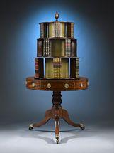 Georgian Mahogany Revolving Bookcase