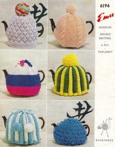 Knitting Pattern 6 Tea Cosy cosies cozy vintage retro