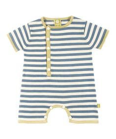 Sea Stripe Organic Billy Romper - Infant