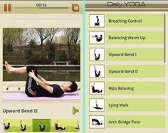 Fitness apps (they're all free too)...I am so downloading the yoga one!