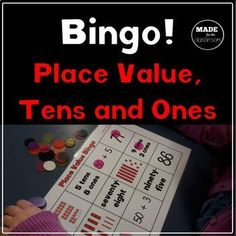 Place Value Bingo Tens and Ones by Made for the Classroom Picture Cube, Place Value Activities, Expanded Form, Teen Numbers, Tens And Ones, Game Boards, Math Concepts, Place Values, Numeracy