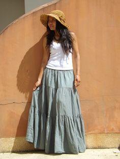 Boho Long Skirt   .....Long Skirt  ...Color  Camouflage by Ablaa, $37.00