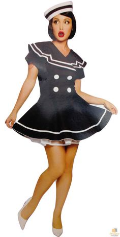 Navy Sailor Elegant Moments Sale Seaside Pin-up Costume Burlesque 10-12 M