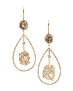 Diamonds in the Rough - Orielle Drop Earrings