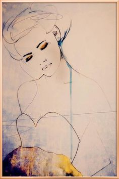 Abstractions Aside - Fashion Illustration I have this lovely print framed. Illustration by Leigh Viner. Art And Illustration, Watercolor Illustration, Art Watercolor, Art Moderne, Art Mural, Painting & Drawing, Woman Painting, Fashion Art, Fashion Models