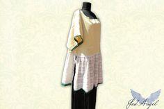 Natural Women TunicRomantic Organic Long Blouse Folk by JadAngel