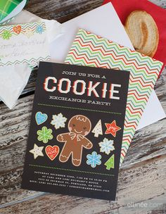Christmas Cookie Exchange Invitation - must order but also lots of free printables to go with the theme here