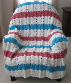 Nautical Ocean Breeze Crochet Throw