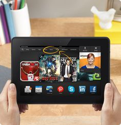 """Kindle Fire HDX 8.9"""" Tablet - Best Movie Tablet, Gaming Tablet, and Business Tablet"""