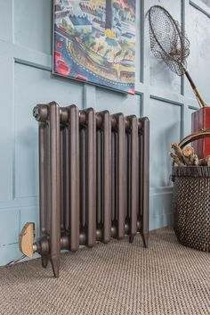 Electric Edwardian 2 cast iron radiator in Old Bronze