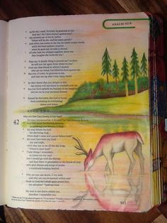 Psalm 42:1. Why are you downcast, O my soul? Sherrie Bronniman -Art Journaling: In My Bible