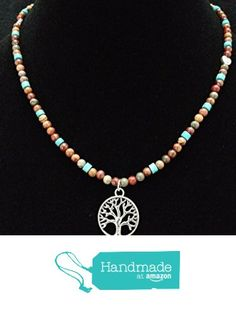 Red Creek Jasper and Turquoise Necklace with Tree of Life Medallion from Red Creek Spirit Jewelry http://www.amazon.com/dp/B015P7A4VC/ref=hnd_sw_r_pi_dp_iuBgwb07XV120 #handmadeatamazon