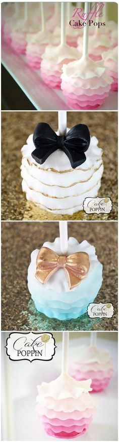 Learn how to make these stunning Ruffled Cake Pops. Step by step instructions on how to create the ruffles. (Cake Pops)