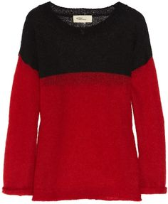 Isabel-Marant-Mati-Mohair-Wool-Blend-Sweater-Black-Red