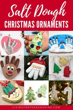 Salt dough ornaments make perfect Christmas decorations! Here are 15 adorable ornaments for make for your tree or for gifts! Salt Dough Christmas Decorations, Salt Dough Ornaments, Diy Christmas Ornaments, How To Make Ornaments, Christmas Crafts, Christmas Ideas, Christmas Baking, Fun Crafts, Crafts For Kids