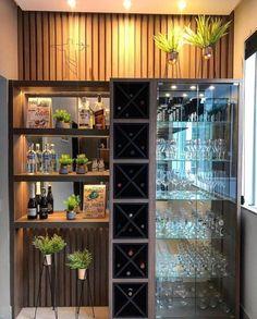 Modern Home Bar Designs, Modern Interior Design, Interior Design Kitchen, Built In Bar Cabinet, Home Bar Cabinet, Home Room Design, House Design, Bar Sala, Bar Counter Design