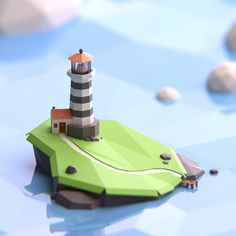 Stunning collection of images featuring Low Poly art. Great inspiration for your next Low Poly project. These renders are excellent, top quality stuff. Level Design, Bg Design, Game Design, Design Ideas, Blender 3d, Environment Concept, Environment Design, Zbrush, Colegio Ideas