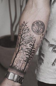 Forest forearm tattoo - 110+ Awesome Forearm Tattoos