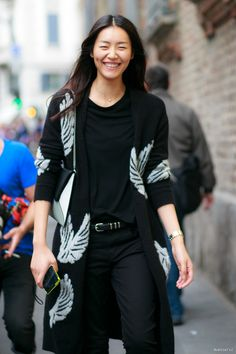smiles all round. #LiuWen looking fab #offduty in Milan.
