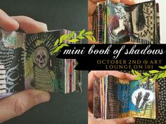 """Mini Book of Shadows"" workshop with artist Roxanne Coble at the Art Lounge on 101 in CA!"